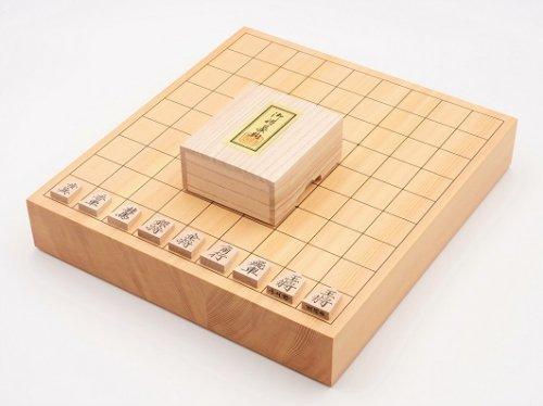 卓上将棋盤20号・駒 楓 菱湖書彫セット