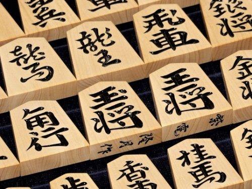 将棋駒 隆月作 島つげ 彫駒 紫電書    (送料無料)