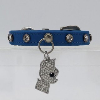 J1シリーズ 色番24 [スワロ付きベルト+スワロ付きバックル+スワロチャーム]BLUE