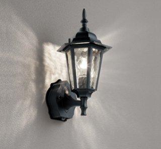 アウトドアライト OG254633LC LED 電球色 センサー 洋風 黒色