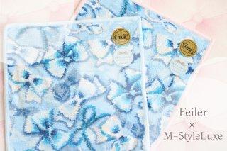 フェイラー×M-StyleLuxe2019【ハンカチ縁取りブルー&縁取りピンクハンカチセット】