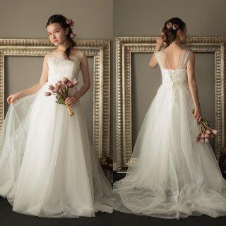 刺繍 エンパイアライン ウエディングドレス(W12)