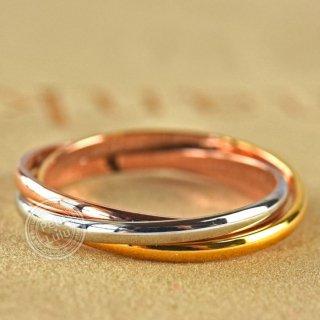 指輪 レディース リング 贅沢 三色 美しすぎる 18K RGP レディース アクセサリー