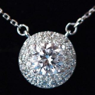 ネックレス レディース ダイヤモンドCZ プラチナ仕上げ シルバー925 極上の一粒  最高級スワロフスキー