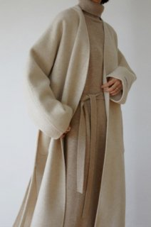 <font color=pink>*再入荷*</font><br>wool 90%<br>hand made no collar coat<br>oatmeal