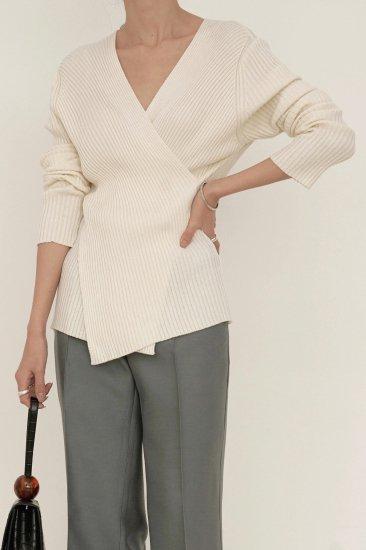 *再入荷*<br>soft wrap knit<br>3colors