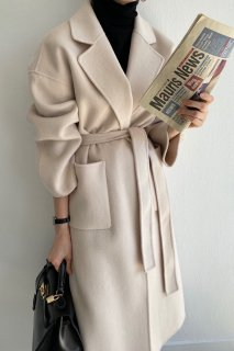 <font color=pink>*再入荷*</font><br>wool100%<br>classic handmade coat<br>3colors