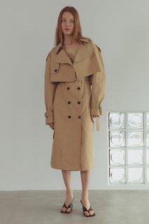 short trench jacket<br>beige