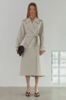 double button<br>trench coat<br>ivory
