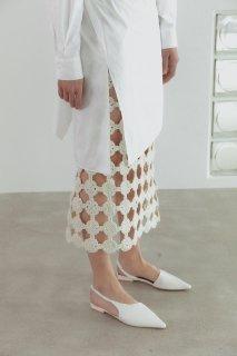 hand made crochet skirt<br>ivory