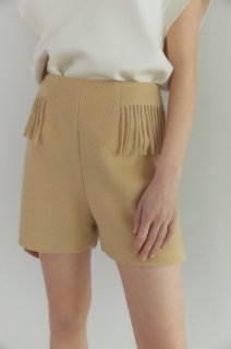 fringe shorts<br>butter yellow