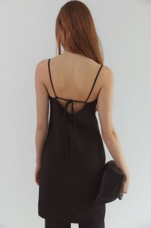 back open<br>ribbon one piece<br>black