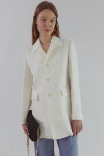 cutting tweed jacket<br>ivory