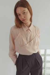 bustier blouse<br>pink