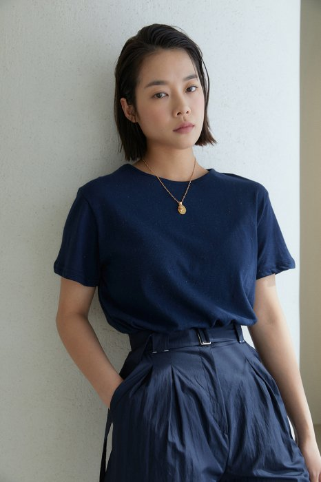 vintage touch tee shirt<br>navy
