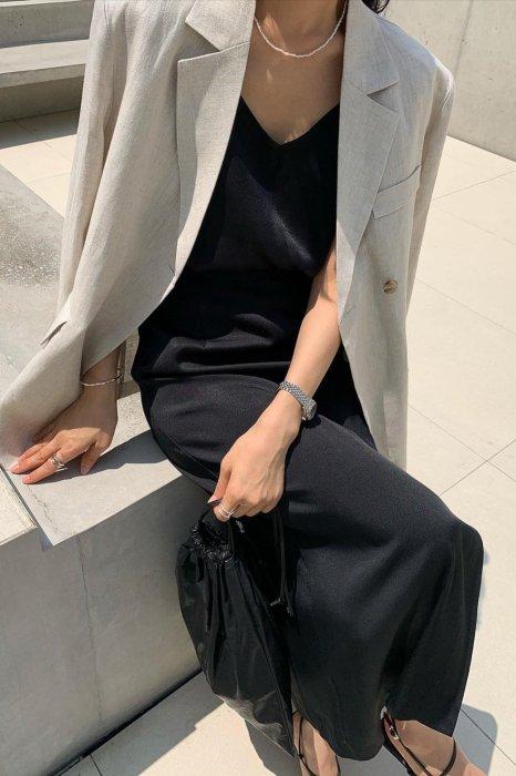 side button camisole<br>black