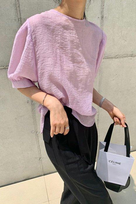 sherbet puff blouse<br>violet