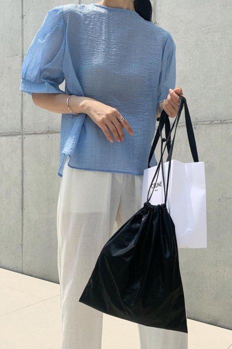 sherbet puff blouse<br>blue