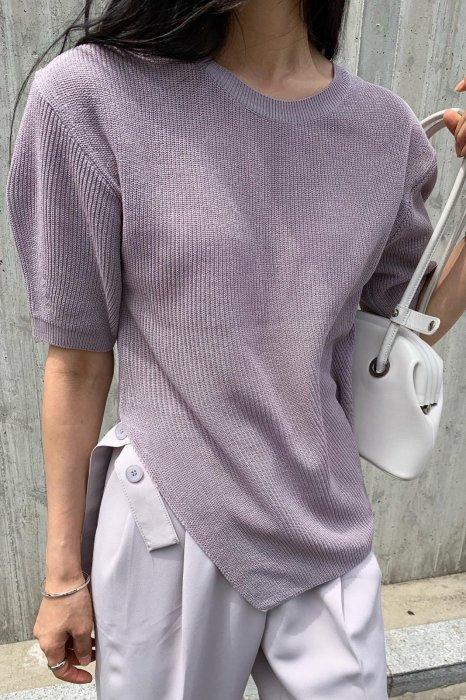 linen<br>rika cutting knit<br>purple