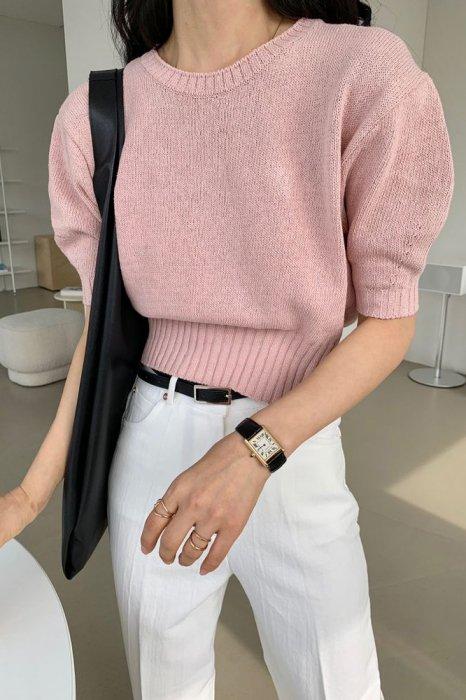 chloe summer knit<br>pink