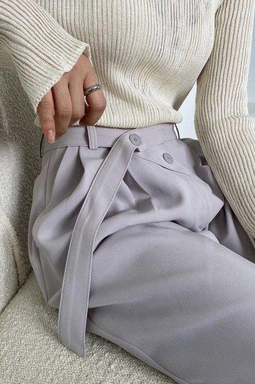 mel belt slacks<br>lilac