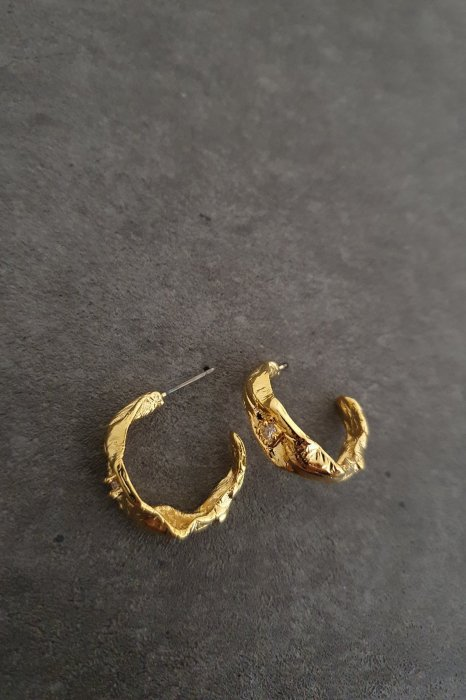 mika ring earring<br>gold, silver