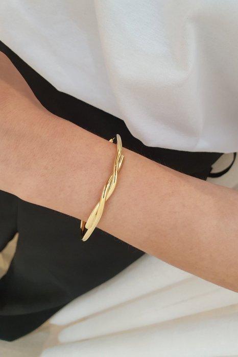 flow bracelet<br>gold, silver