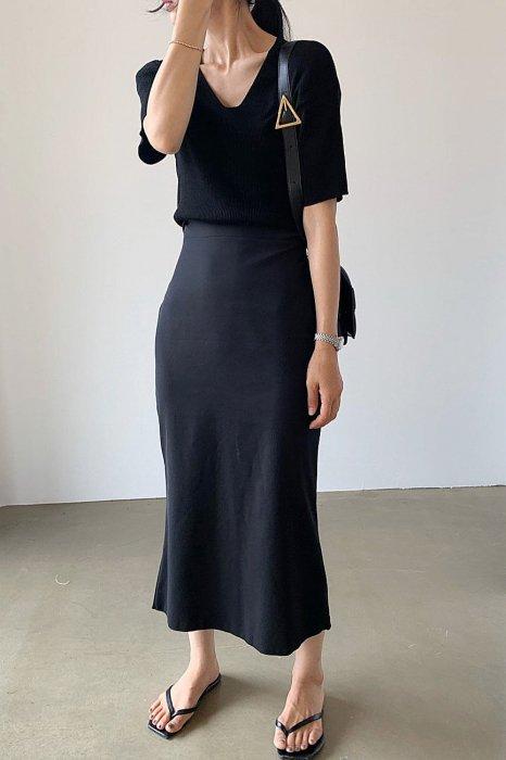 summer mermaid skirt<br>black