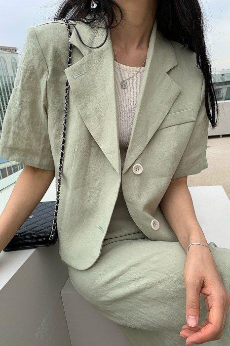 linen<br>hailey jacket<br>mint