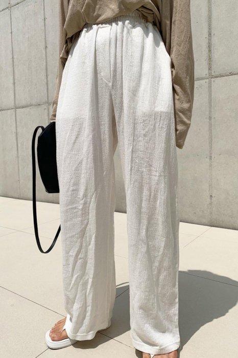 linen easy pants<br>ivory