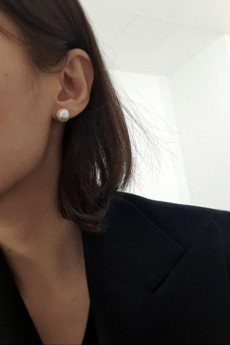 swarovski pearl earring