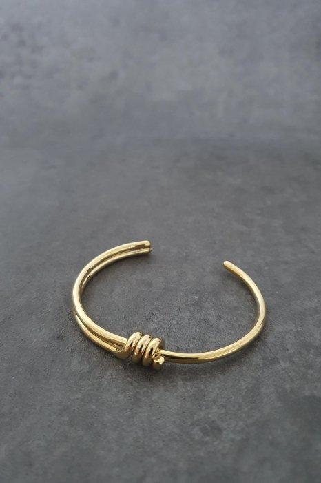 3 knot bracelet<br>gold, silver