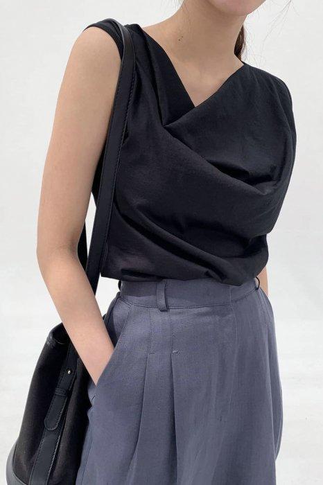 drape sleeveless top<br>4colors