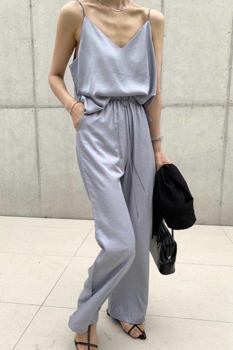summer satin camisole<br>gray