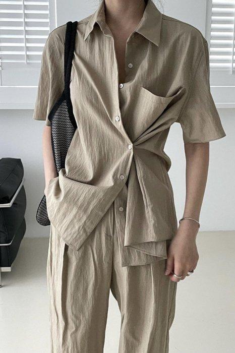 glo 2way summer shirts<br>beige