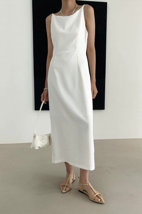boat neck<br>maxi one piece<br>ivory