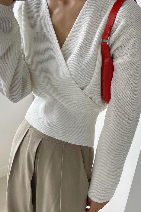 ella wrap knit<br>ivory
