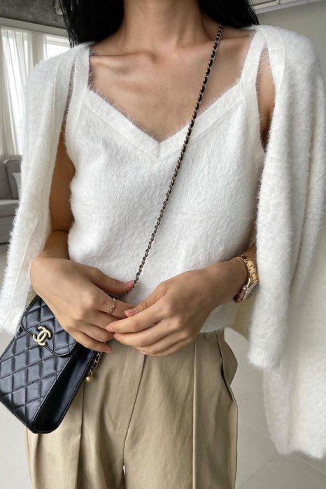 soft knit camisole<br>ivory