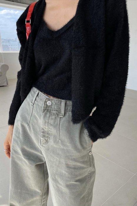 soft knit cardigan<br>black