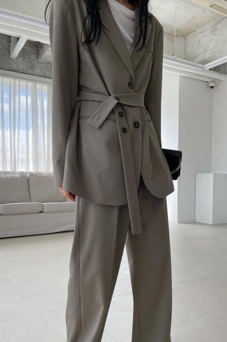 moa belt jacket<br>khaki