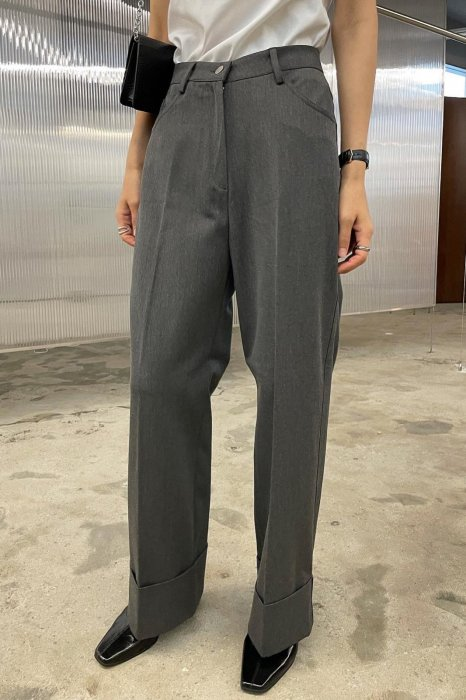 tene roll up pants<br>charcoal