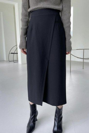 jade slit skirt<br>black