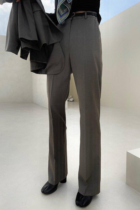 plen<br>back slit point slacks<br>brown