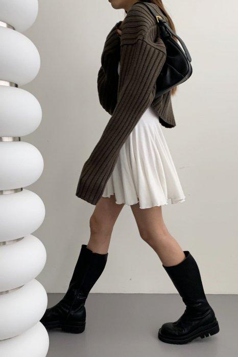 amy knit bolero<br>khaki