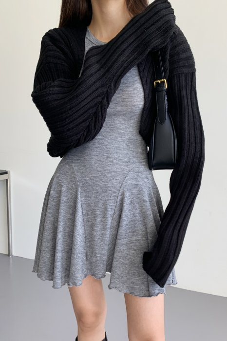 amy knit bolero<br>black