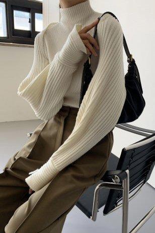 *セットアップ*<br>shoulder button<br>knit bolero set<br>ivory