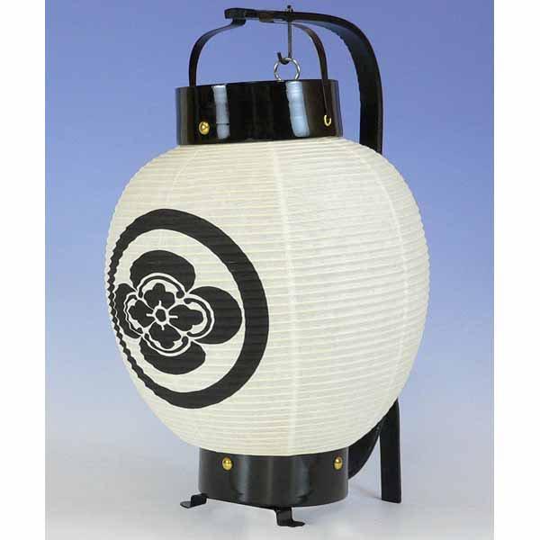 ◆正面家紋の弓張提灯(お迎え提灯)ボール箱入り ※防水加工済み【80-101】