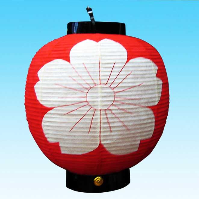 ◆和紙製オーダーメード・丸型提灯 13号 さくら型 ※防水加工済み