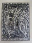 ウォルター・クレイン版画 「テンペスト」のうち第4幕第1場 THE DANCE OF THE NYMPHS AND THE REAPERS