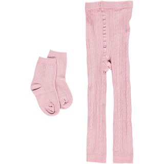 <img class='new_mark_img1' src='https://img.shop-pro.jp/img/new/icons22.gif' style='border:none;display:inline;margin:0px;padding:0px;width:auto;' />【20%OFF】HAPPYOLOGY Cable Knit Cotton Socks & Leggings Set - Pink